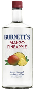 Burnett's Vodka Mango Pineapple 750ml - Case of 12